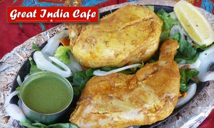 Great India Cafe - Multiple Locations: $10 for $20 Worth of Indian Cuisine and Drinks at Great India Cafe in Woodland Hills or Studio City