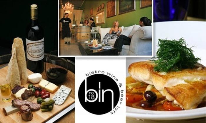 Bin No. 18 - Media and Entertainment District: $10 for $20 Worth of Mediterranean Fare at Bin No. 18