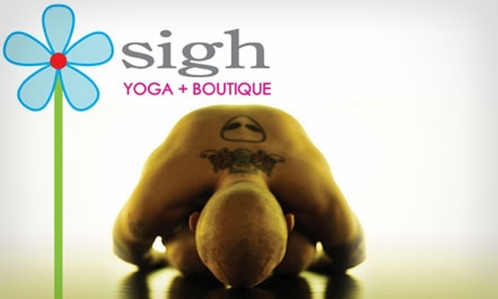 Sigh Yoga - Tangletown: $50 for One Month of Unlimited Classes at Sigh Yoga