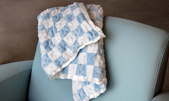 Velour Baby Blanket: Dimpled 100% Velour Baby Blanket ($35.99 Value). Multiple Colors Available.