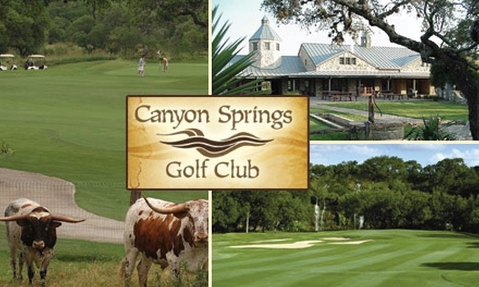 Canyon Springs Golf Club - Far North Central: $39 for a Round of Golf with Cart, GPS, and Practice Balls at Canyon Springs Golf Club