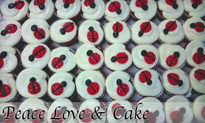Peace Love & Cake - Clearwater: $6 for a Dozen Cupcakes ($12 Value) or $15 for a Custom Dessert Party Tray ($30 Value) at Peace Love & Cake