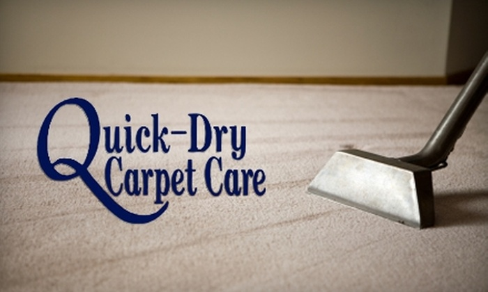 Quick-Dry Carpet Care - Rochester: $90 for a Three-Room Carpet Cleaning and More from Quick-Dry Carpet Care (Up to $195 Value)