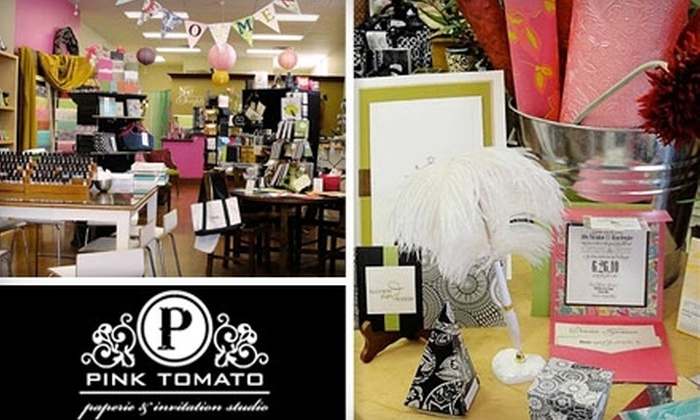 The Pink Tomato - Wooster: $20 for $45 Worth of Paper and More at Pink Tomato