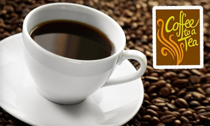 Coffee to a Tea - West End: $10 for 10-Coffee Punch Card at Coffee to a Tea ($21.10 Value)