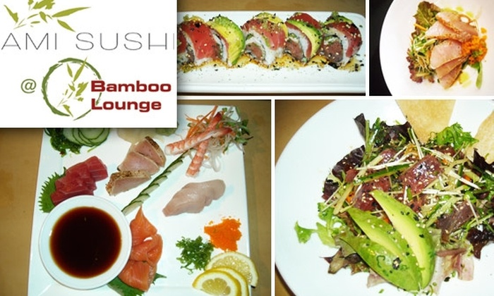 Ami Sushi in Bamboo Lounge - Hillcrest: $30 for $60 Worth of Sushi Plus Complimentary Sake Bombs at Ami Sushi