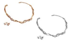2-piece Infinity Jewelry Set With Swarovski Elements