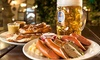 Stein Strasse - Derby: German Sharing Platter with Beer for Two or Four at Stein Strasse (Up to 56% Off)