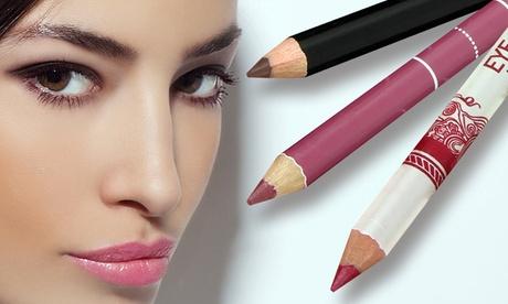 1, 2 o 4 sets de 12 lápices para ojos y labios
