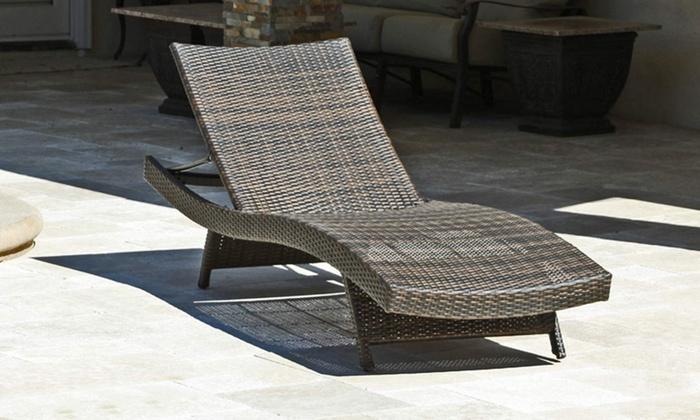 Lakeport Outdoor Wicker Lounge Chair: Lakeport Outdoor Wicker Lounge Chair  ...