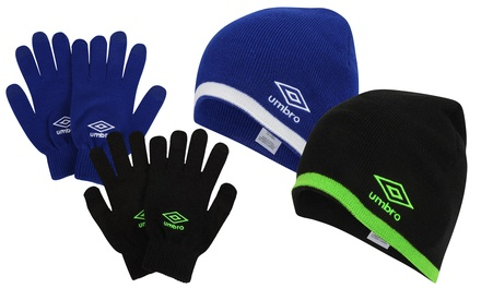 Umbro Hat and Gloves Set in Choice of Colour