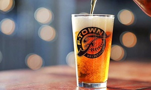 F-Town Brewing: Beer Packages with Flights, Pints, and Logo Glasses for Two or Four at F-Town Brewing (Up to 45% Off)