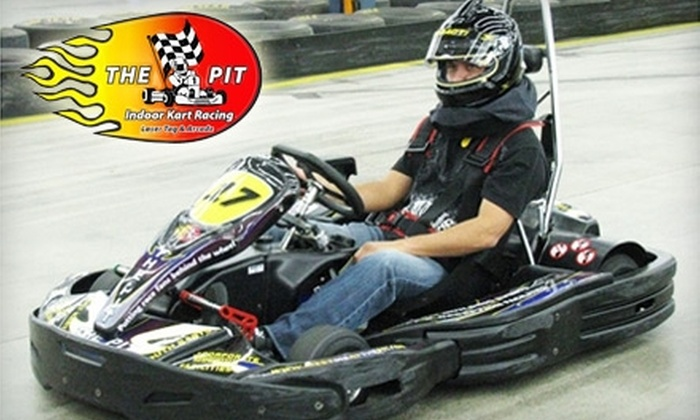 The Pit Indoor Kart Racing - Mooresville: $17 for One Go-Kart Race and One-Year Adult Membership ($35 Value) or $15 for One Go-Kart Race and One-Year Youth Membership ($30 Value) at The Pit Indoor Kart Racing in Mooresville