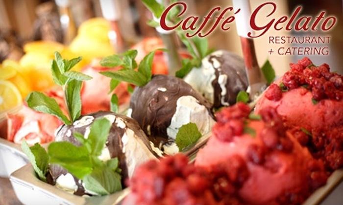 Caffé Gelato - Newark: $15 for $30 Worth of Northern Italian Dinner and Drinks at Caffé Gelato