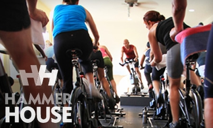 Hammer House - Multiple Locations: $66 for a 10-Class Card Toward Indoor-Cycling Sessions at Hammer House