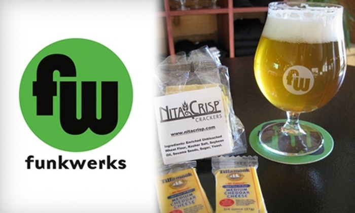 Funkwerks - Fort Collins: $25 for Two Flights and Two Bottles of Organic Belgian-Style Beer, Plus Two Tulip Glasses, at Funkwerks in Fort Collins ($50 Value)