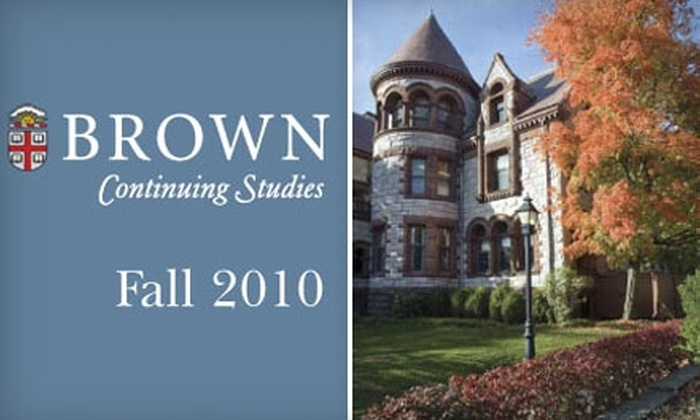 Brown University - College Hill: $50 for $200 Toward Continuing Education Classes at Brown University