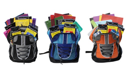 "17"" Backpack with 18-Piece School-Supply Kit"