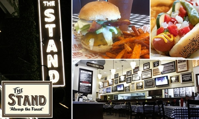 The Stand - Westwood: $8 for $16 Worth of Classic Comfort Food and Drinks at The Stand. Choose from Three Locations.