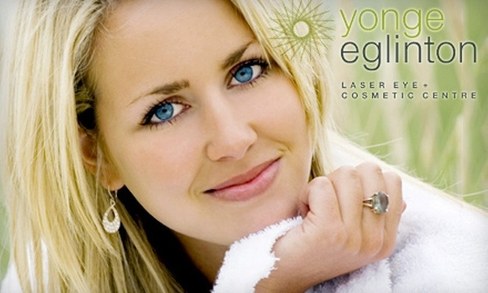 Yonge Eglinton Laser Eye + Cosmetic Centre - Toronto: $189 for $500 Worth of Laser Hair Removal, Skincare Services and More at Yonge Eglinton Laser Eye + Cosmetic Centre