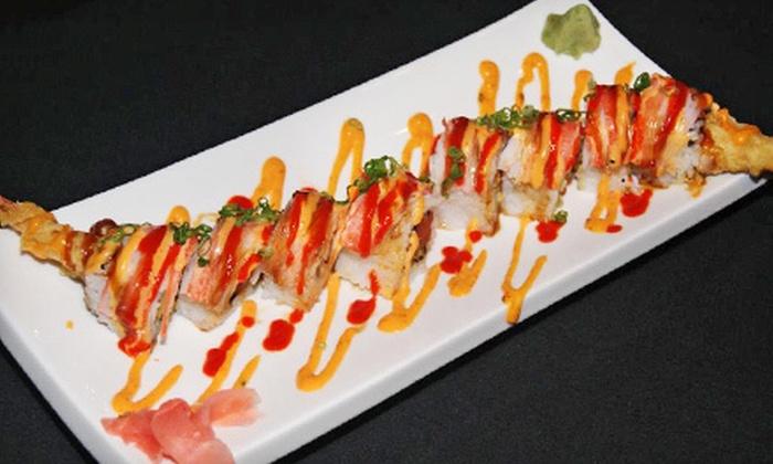 Hibashi Teppan Grill & Sushi Bar - Broadstone Galleria: Hibachi and Sushi Dinner Cuisine at Hibashi Teppan Grill & Sushi Bar (Up to Half Off). Four Options Available.