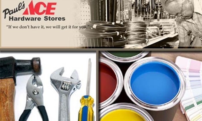 Paul's Ace Hardware - Multiple Locations: $10 for $20 Worth of Home-Improving Supplies at Paul's Ace Hardware Stores