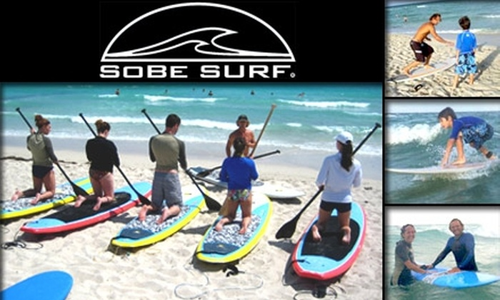 SoBe Surf - Orlando Beach: $40 for $80 Toward Surfing or Stand-Up Paddle-Surfing Lessons with SoBe Surf