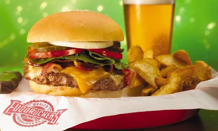 Fuddruckers - Bloomfield Hills: $39 for Three Groupons, Each Good for $25 Worth of Casual American Food and Drinks at Fuddruckers ($75 Total Value)