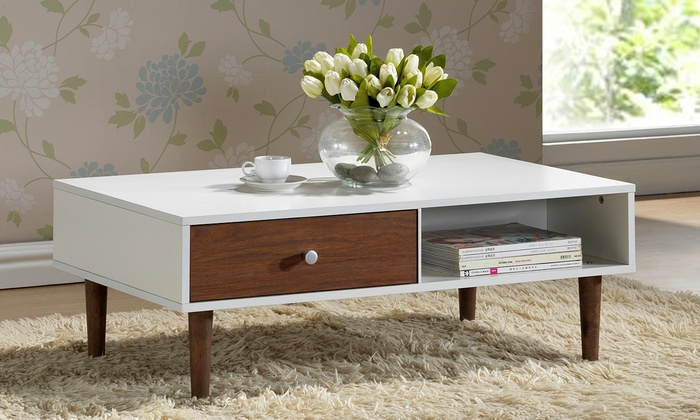 Walnut effect coffee table groupon goods Walnut effect living room furniture