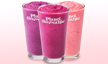 $12 for Two Groupons, Each Good for $10 Worth of Healthy Smoothies at Planet Smoothie ($20 Value)