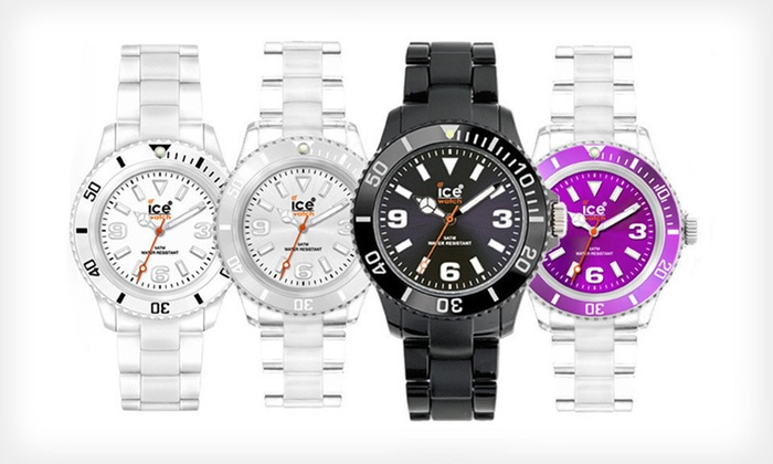 Ice Classic Watches: $25 for Ice Classic Watch in Black, Purple, Silver, or White ($85 List Price). Free Shipping.