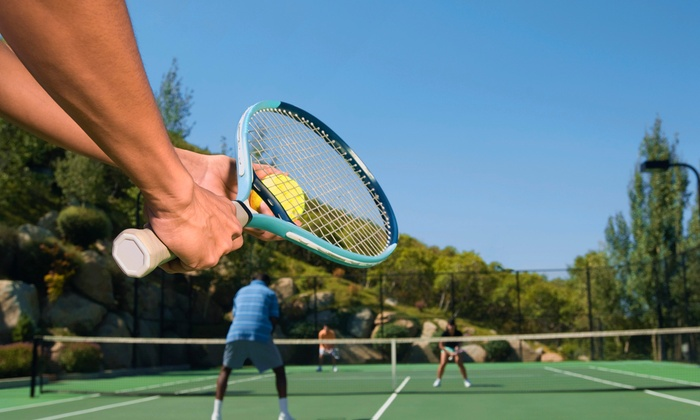 Tennis Tutor at Tennis Champs - Multiple Locations: $30 for 1.5-Hour Private Tennis Ball Machine Rental at Tennis Tutor at Tennis Champs ($52.50 Value)