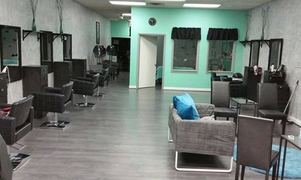 Haircut, Highlights, and Style from The House Of Beauty (55% Off)
