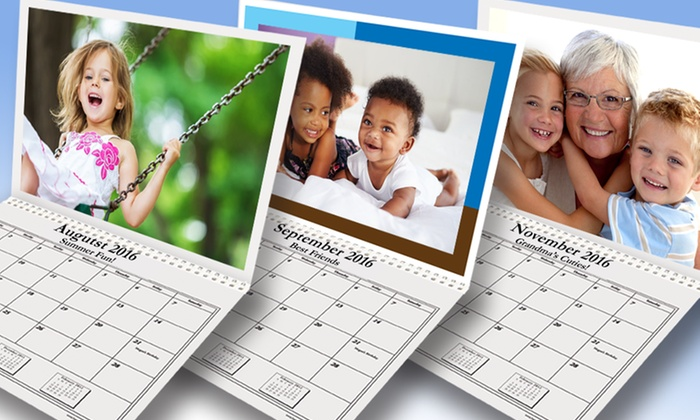 Happy Kids Productions: Two, Three, or Five Custom Photo Calendars from Happy Kids Productions (Up to 64% Off)