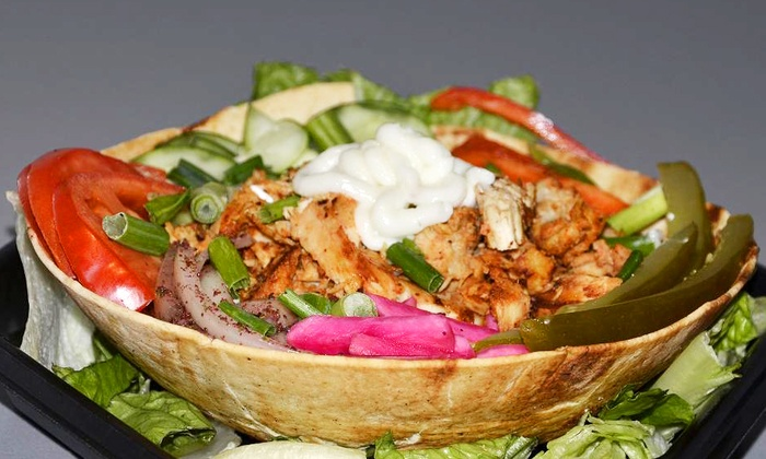 The Blue Grill - Downtown Milford: Mediterranean Dinner for Two or Four at The Blue Grill (Half Off)