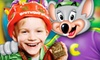 Chuck E. Cheese - Sandy: $20 for an Eat-and-Play Package with a Pizza, Four Drinks, and Game Tokens at Chuck E. Cheese (Up to $44.99 Value)
