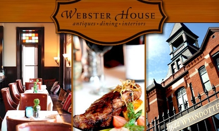 Webster House - Crossroads: $25 for $50 Worth of Cuisine and Drinks at Webster House