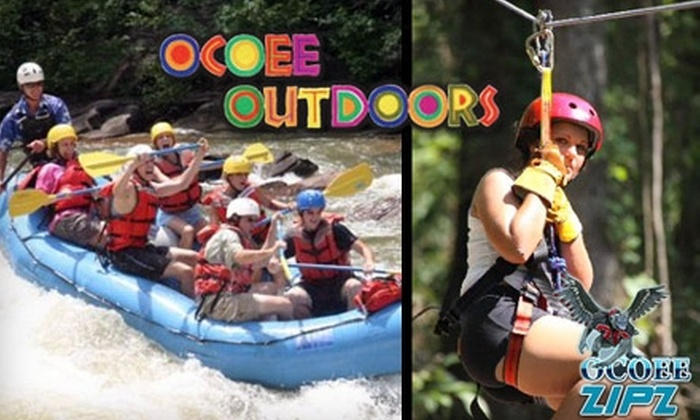 Ocoee Outdoors - Benton: $39 Zipline Tour from Ocoee Zipz or $65 Zipline/Rafting Trip from Ocoee Outdoors. Choose Between Two Options.