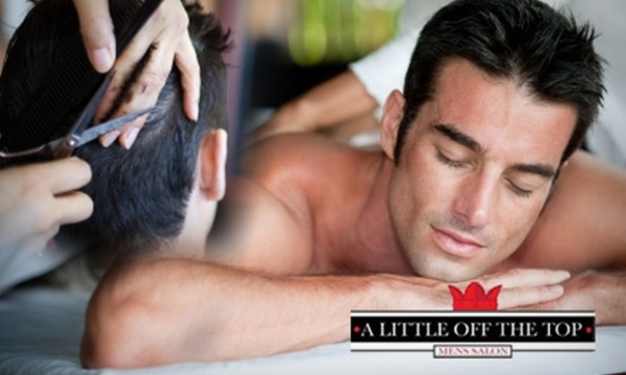 A Little Off The Top - Englewood: $57 for a One-Hour Massage and Haircut at A Little Off The Top ($115 Value)