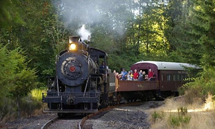 Chehalis-Centralia Railroad & Museum  - Chehalis: $6 for a 75-Minute Coach Steam-Train Ride from Chehalis-Centralia Railroad & Museum (Up to $12 Value)