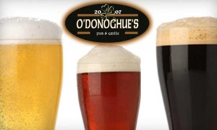 O'Donoghue's Oregon Duck Bar - Greyhawk: $10 for $20 Worth of Irish Pub Fare and Drinks at O'Donoghue's Oregon Duck Bar in Scottsdale, AZ