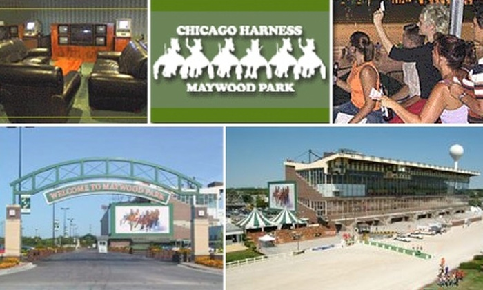 Maywood Park race track - Melrose Park: $13 for Dinner, Trackside Seats, and More at Maywood Park Racetrack