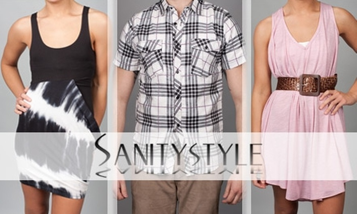 Sanity - Chagrin Falls: $15 for $35 Worth of Men's and Women's Apparel at Sanity