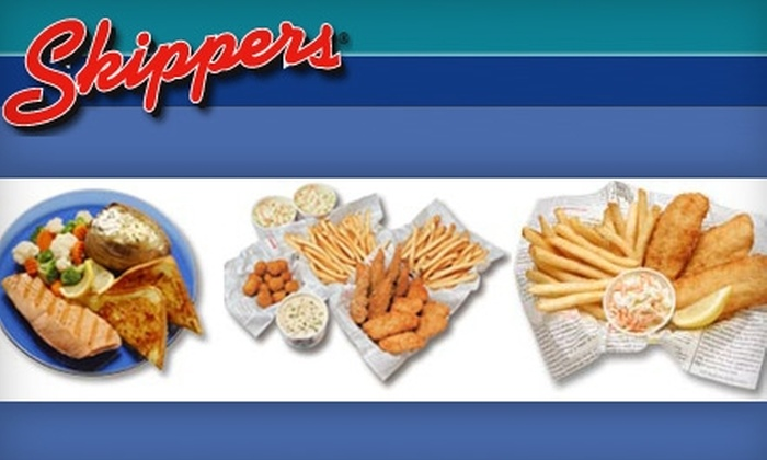 Skippers Seafood and Chowder House - Multiple Locations: $5 for $10 Worth of Seafood and Drinks at Skippers Seafood and Chowder House