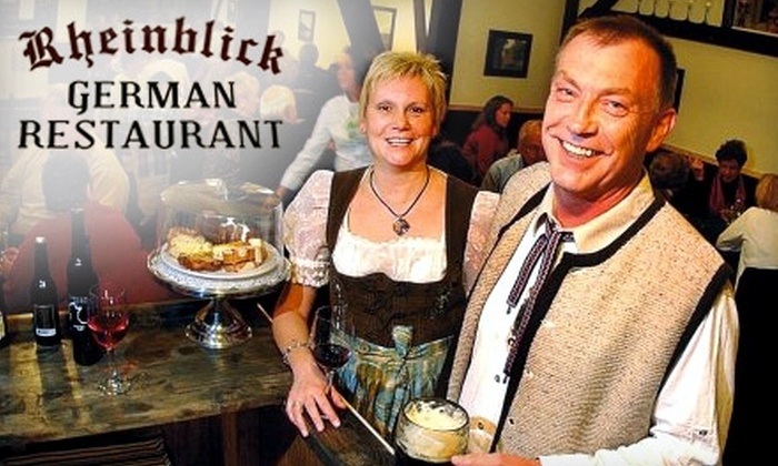 Rheinblick German Restaurant - Canandaigua: $15 for $30 Worth of Authentic German Fare and Drinks at Rheinblick German Restaurant in Canandaigua