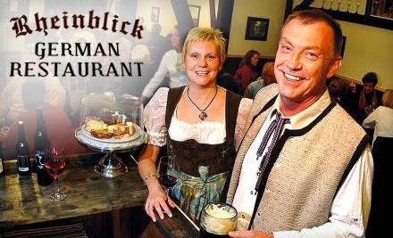 $30 Groupon to Rheinblick German Restaurant - Rheinblick German Restaurant in Canandaigua