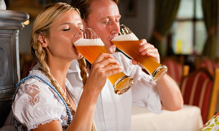 Blob's Park - Jessup: $25 for a German-Cultural Outing with Beer and Entree for Two at Blob's Park in Jessup (Up to $79.90 Value)