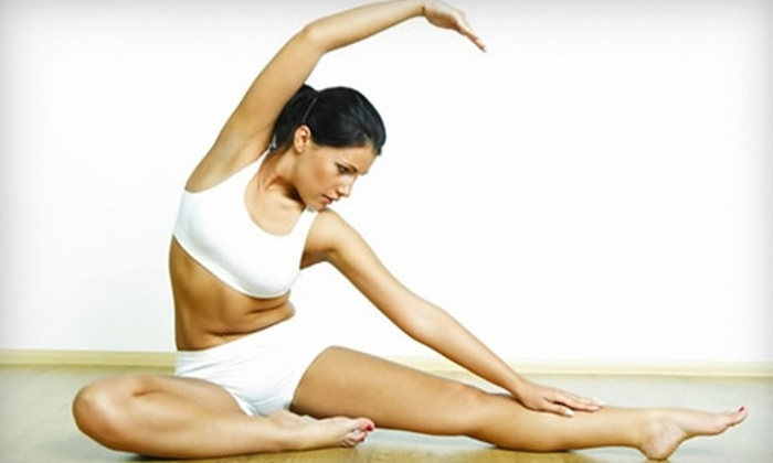 Pretty Postures - Charlotte: $50 for a 10-Class Yoga Pass for an Adult ($100 Value) or $184 for a Private Yoga Party for 10 People at Pretty Postures ($389 Value)