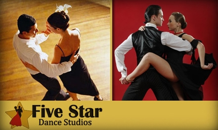 Five Star Dance Studios - Multiple Locations: $39 for Three Private Lessons, One Group Class, and One Party Class at Five Star Dance Studios