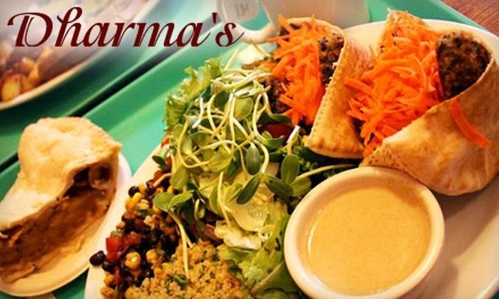 Dharma's Restaurant - Capitola: $10 for $20 Worth of Vegetarian Cuisine at Dharma's Restaurant